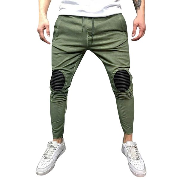 Womail Fashion Comfortable Mens Spring Winter Joggers Solid Patchwork Drawstring Sweatpants Trouser Pants M300110