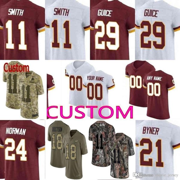 new product 82bd5 b866c 2019 Custom Men Youth Women Washington Clinton Dix Derrius Guice Adrian  Peterson Alex Smith Sean Taylor Redskins Camo Elite Limited Jersey From ...