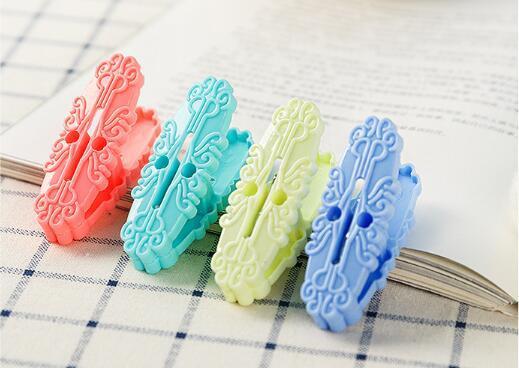 Мода Изысканного орнамент ветрозащитной пластики швейного клип носков клип многофункциональной воздушная сушка фиксированного зажим держатель оптовой продажа лоскутнога