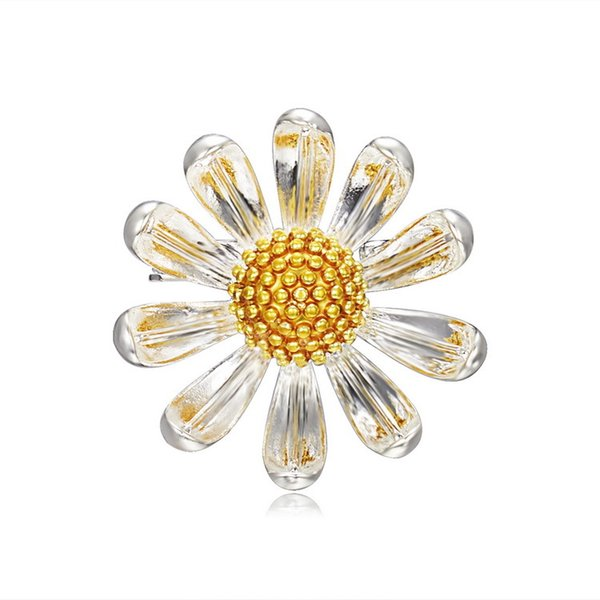 2018 Fashion Sun Flower Brooch Pin for Clothes Cute Enamel Pins and Brooches for Women Small Brooches Badge for Scarf
