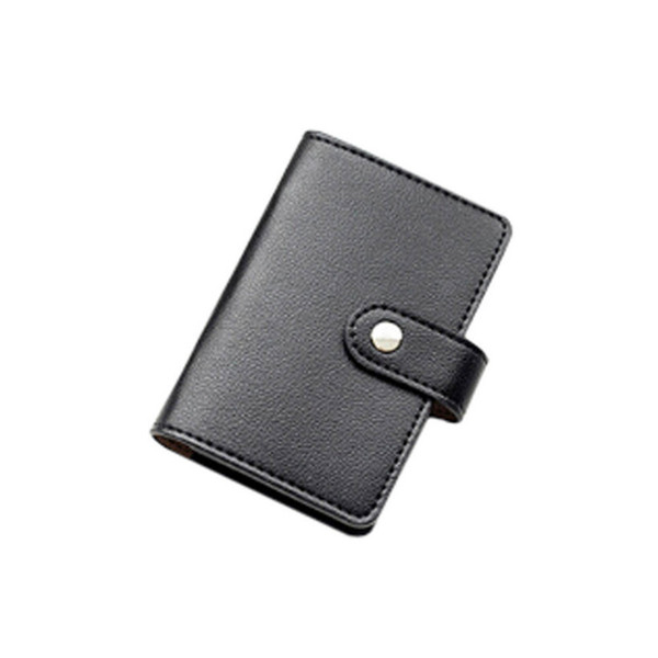 2019 Candy Color Pu Leather Bank Credit Cards Large Capacity Card Holder Korea Fashion Women&men's Name Bank Credit Card Holder