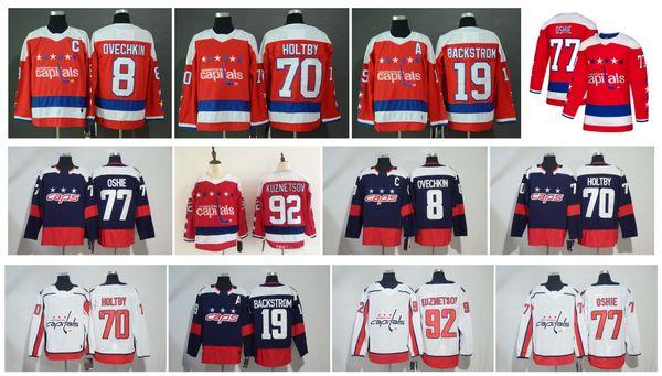 premium selection 81d0a 2187b 2019 NHL Washington Capitals Jersey Alexander Ovechkin Evgeny Kuznetsov TJ  Oshie Nicklas Backstrom Braden Holtby Red Alternate Stitched Hockey From ...