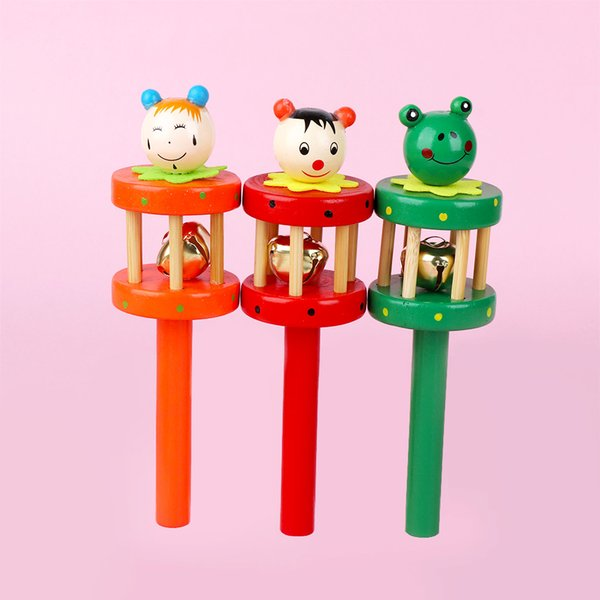 Colorful Cartoon Design Baby Rattles Shaking Bells Early Educational Baby Toys Cartoon Cute Gift Bed Bell Rattles