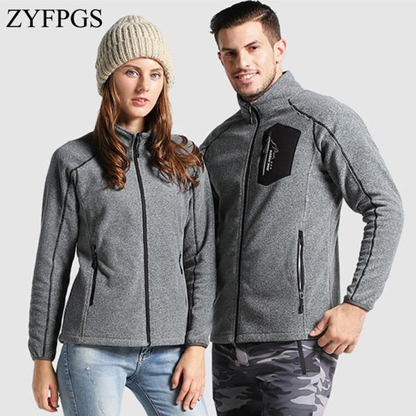 ZYFPGS 2019 Men's Jackets Warm Fleece Male Short Patch Coat Fashion Winter Fitness Jacket Sales Couple Brand Design Sales Z1222
