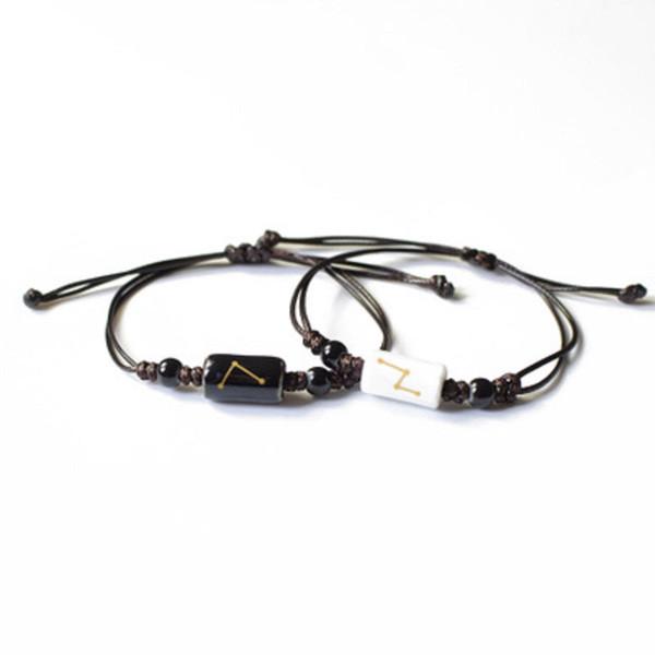 12 Constellations Corde Bracelets pour Hommes Femmes Couple Bracelet À La Main En Céramique Charme Bracelet Zodiac Bracelet Bijoux Accessoires Cadeaux DHL