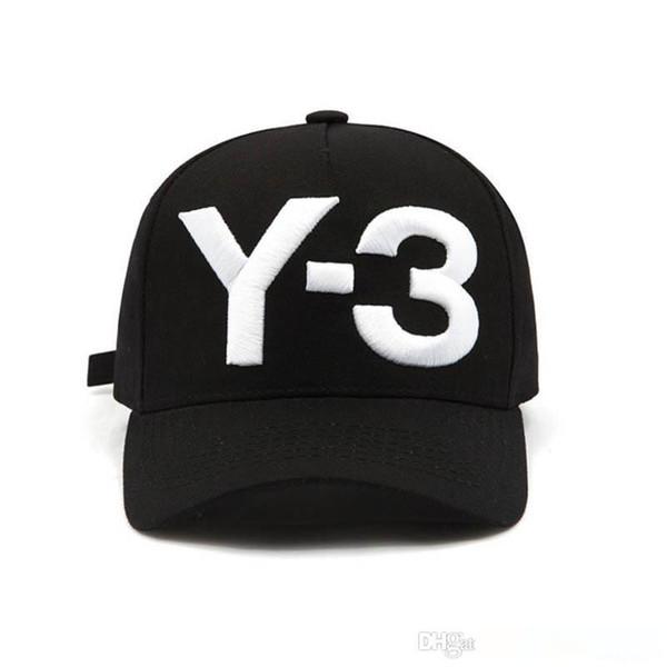Mode Y-3 aus reiner Baumwolle Emporgeragte Hip-Hop-Baseballmütze Gestickte Brief Adjustable Männer Frauen beiläufige Snapbacks Sport Visier gorras Hüte