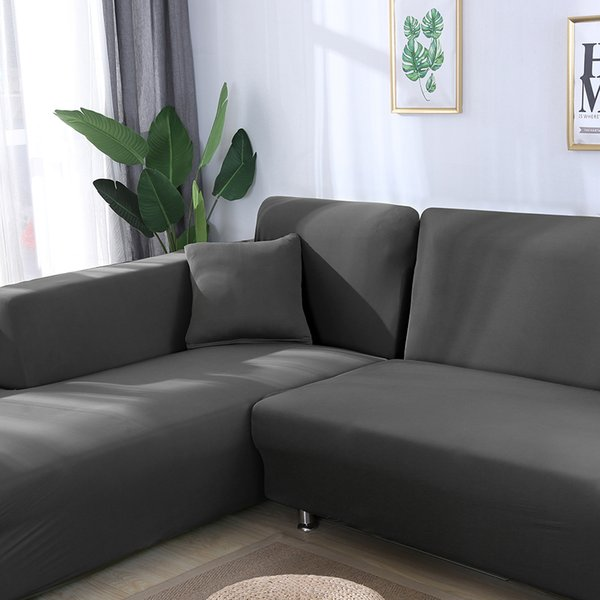 Tremendous Grey Color Elastic Couch Sofa Cover Loveseat Cover Sofa Covers For Living Room Sectional Slipcover Armchair Furniture Tablecloth And Chair Covers Beatyapartments Chair Design Images Beatyapartmentscom