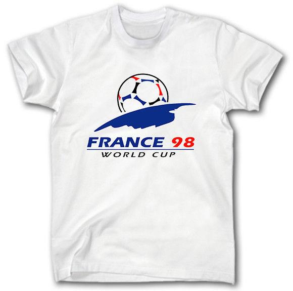 FRANCE 98 WORLD CUP RETRO SHIRT S-5XL FOOTBALL LOGO WM 98 SOCCER FUTBOL CAMISA