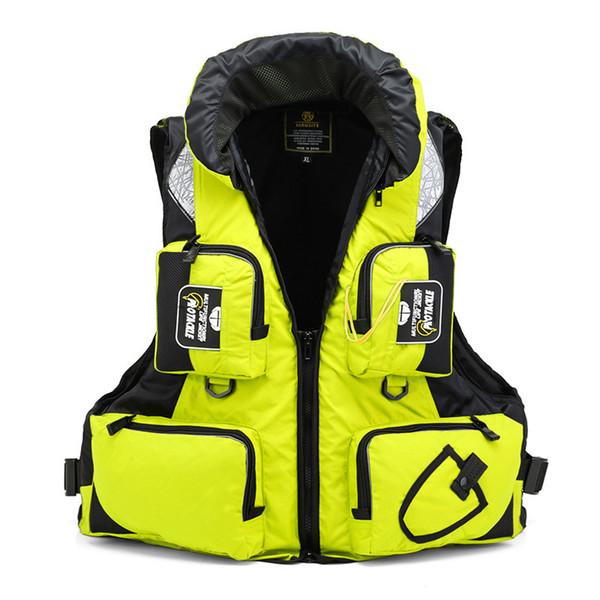 top popular Fishing Vest General Size Multi Function Adjustable Mesh Vest With Mutil-Pocket Outdoor Fly Fishing Life Jacket 2019