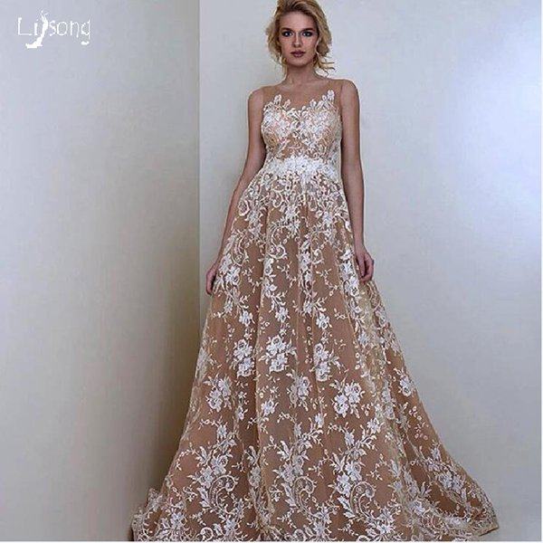 Compre Elegante Vestido De Noche A Line Apliques De Encaje Vestidos De Gala Vestidos Vestidos Robe De Velada Evento Por Encargo Desgaste Dama Moda