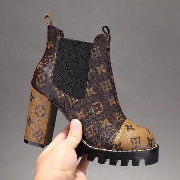 iduzi NEW High heels Knit Sock Boots Brand Designer Women's Evening Party Boot With Original Box