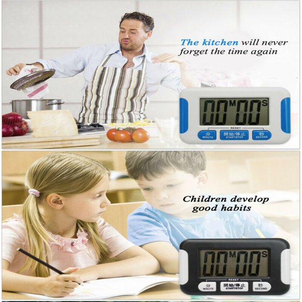 Büyük Dijital LCD Mutfak Zamanlayıcı Sayısı-Aşağı Yukarı Saat Loud Çalar Manyetik Mutfak Zamanlayıcı Araçlar Pişirme