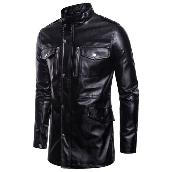 New Classic Motorcycle Jacket Men Pigskin Moto Jacket Motorcycle Clothing Biker Coats Windproof Large size 5XL