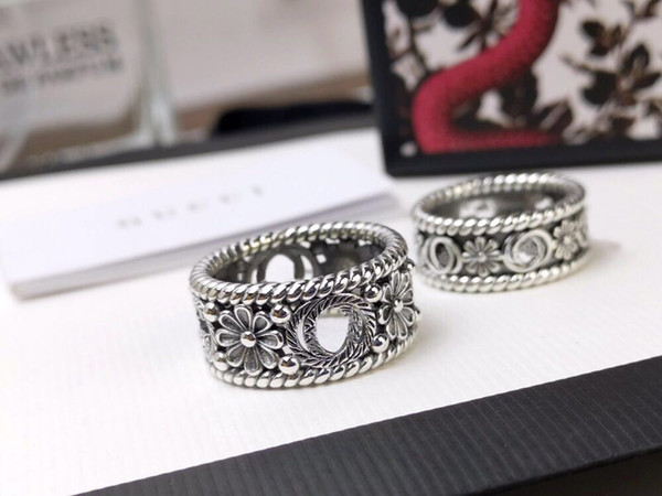 top popular Popular fashion love flower rings bague anillos moissanite for mens and women engagement wedding anniversary couples jewelry lover gift 2021