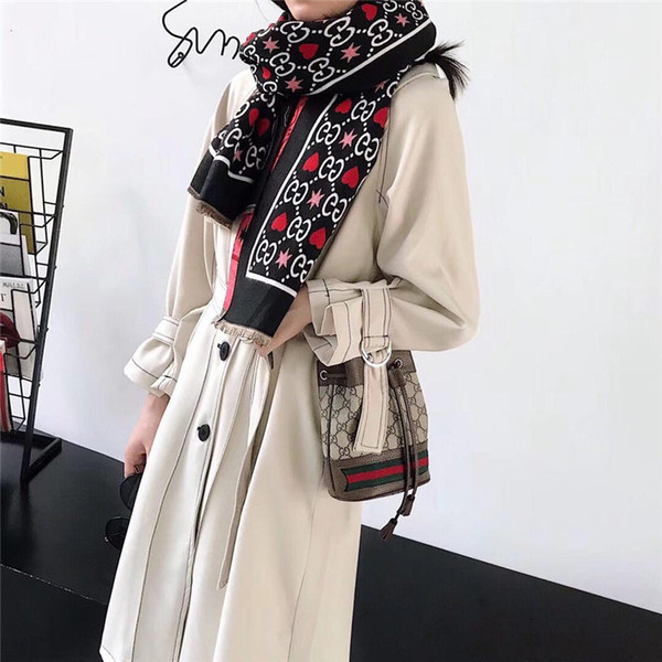 Women Scarf Winter Autumn Women Scarves Wrap Shawl Thick Women's Scarf Warm Cotton Cashmere Wool Blended Knit Brushed Scarf