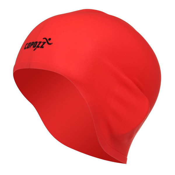 COPOZZ Sombrero de natación Mujeres atractivas Chicas Cabello largo Gorro de baño Sombrero elástico Gorro de baño drapeado (negro / azul / rojo / plata / blanco / amarillo)