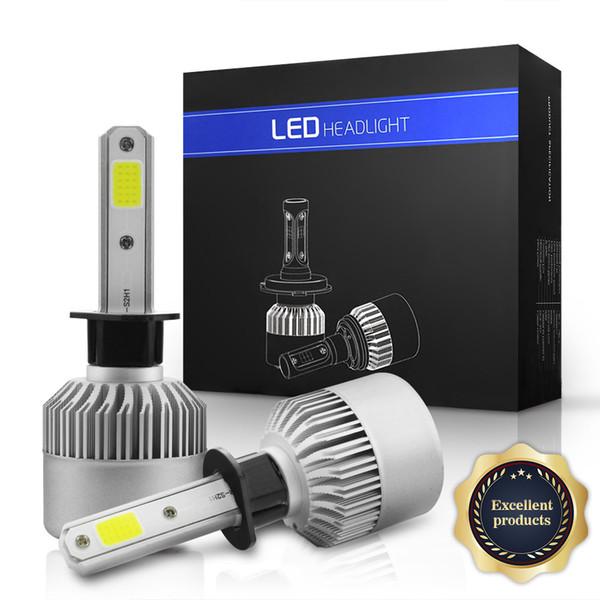 best selling 2019 New S2 Led Headlights Bulbs Conversion Kit -H1 H3 H7 H11 H13 9004 HB1 9005 H10 HB3 9006 HB4 9007 HB5 6000lm 6K Cool White,2 Yr Warranty