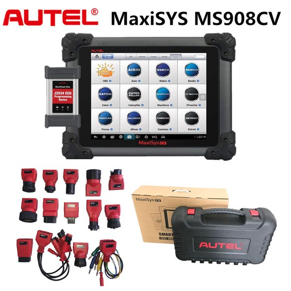 Autel MaxiSYS MaxiSYS CV MS908CV Heavy Duty Diagnostic Scan Tool Autel truck diagnostic tool Full Configuration with all Adapters