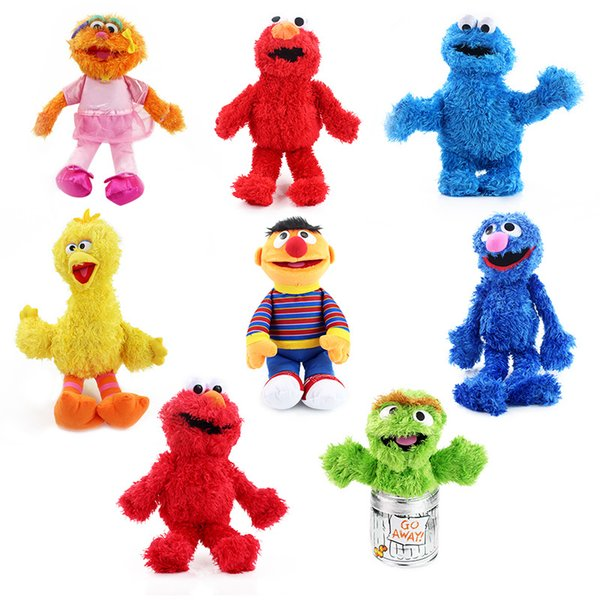 2018 Sesame Street Plush Toys 27 40cm Elmo Plush Doll Soft Stuffed Animals For Children Christmas Gifts C1485 From Candykids 8 33 Dhgate Com