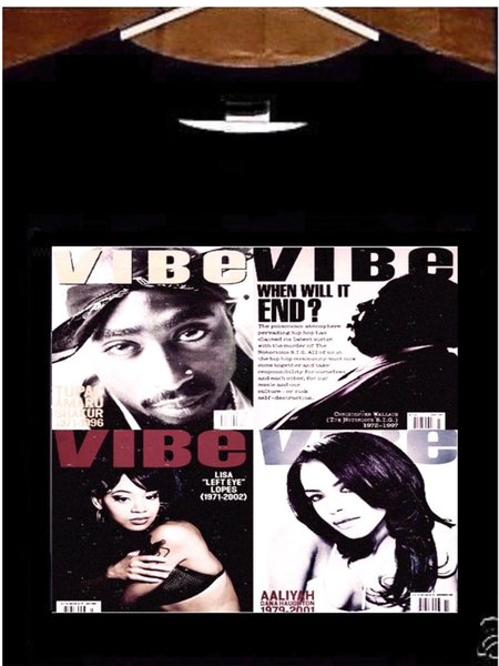 Biggie Smalls, Aaliyah, Left Eye, 2pac Vibe Cover T shirt Funny free shipping Unisex Casual gift