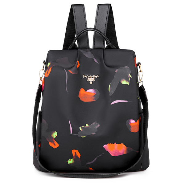 Fashion Feathers Oxford Women Backpack Large Capacity Antitheft School Shoulder Bags for Girls Casual Travel Bagpack Sac A Dos