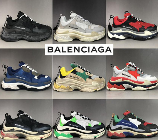 New Balenciaga Triple S Casual Shoes Men Women Split Desert Grey Wine Rainbow Luxury Paris Old Dad Air Cushioned Sneaker 002 White Red Buy At The Price Of 98 14 In Dhgate Com Imall Com