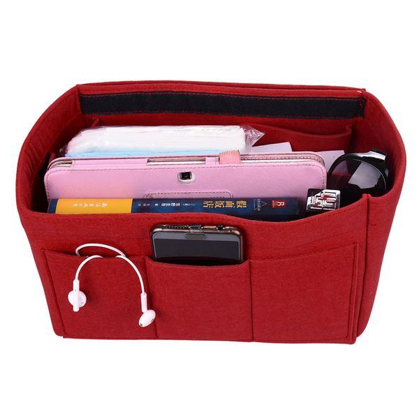 New Arrival Makeup Bag Felt Cosmetic Case Handbags Organizer Insert Bag Makeup Bag Ladies Travel Organizer Luggage Accessories FF0005