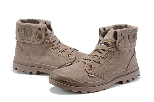 bfd0e0495b4 Palladium High-top Zapatos de lona Tobillo Botas Nude cómodas Entrenadores  Zapatos casuales para mujer