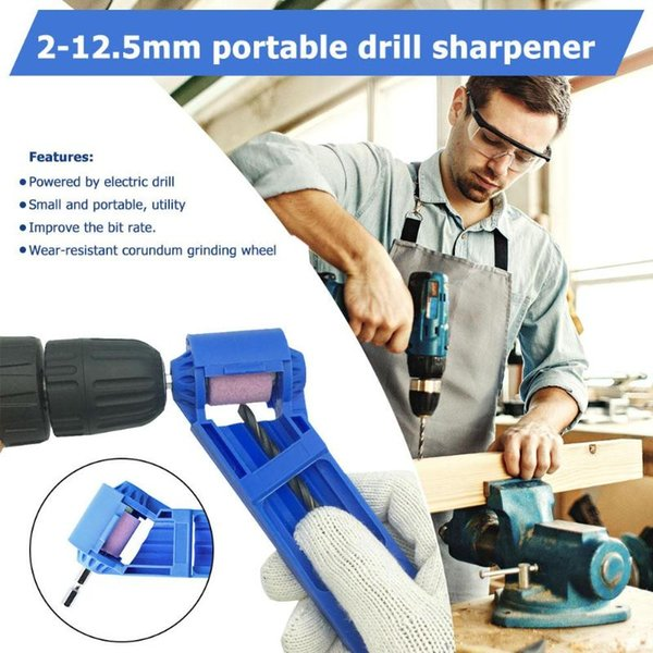 top popular 1PC 2-12.5mm 1PC 2-12.5mm Portable Drill Bit Sharpener Corundum Grinding Wheel for Corundum Grinding Wheel for Grinder Drill Sharpener Tools 2021