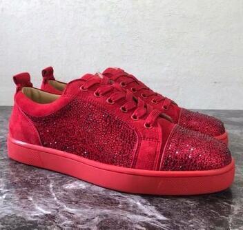 Snakeskin Red Bottom Повседневная обувь Дизайнерские кроссовки для высоких коньков Мужские женские повседневные туфли Совершенно новые кроссовки Comfort 92