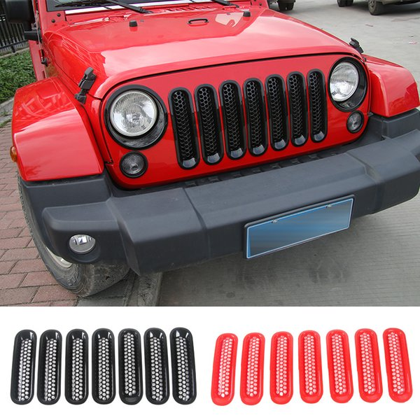 Jeep Wrangler Accessories 2017 >> Car Front Mesh Grille Cover Decoration Racing Grills For Jeep Wrangler Jk 2007 2017 Car Exterior Accessories Oem Auto Parts Online Auto Accessories