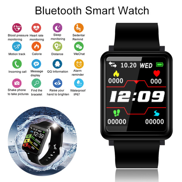 Blood Pressure Smart Watch Activity Tracker Smartwatch Men Fitness Connect Watch Women Sport Wearable Devices For Ios Android MX190716