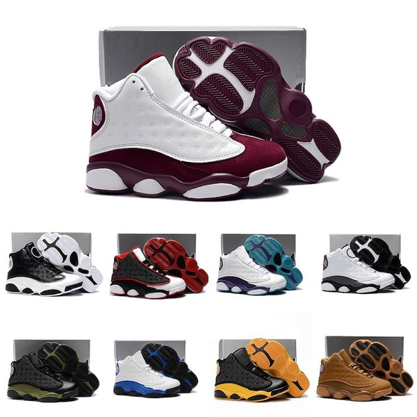 Baby shoes 13 XIII basketball Black White Red Blue Boys Girls Youth Kids air flights sneakers J13 for sale
