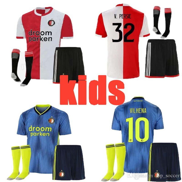 bien 19 20 maillot de foot enfant Feyenoord domicile AWAY thaïlande 19 20 V.PERSIE BERGHUIS VILHENA JORGENSEN 19/20 CHEMISE EN JERSEY FEYENOORD POUR ADULTE