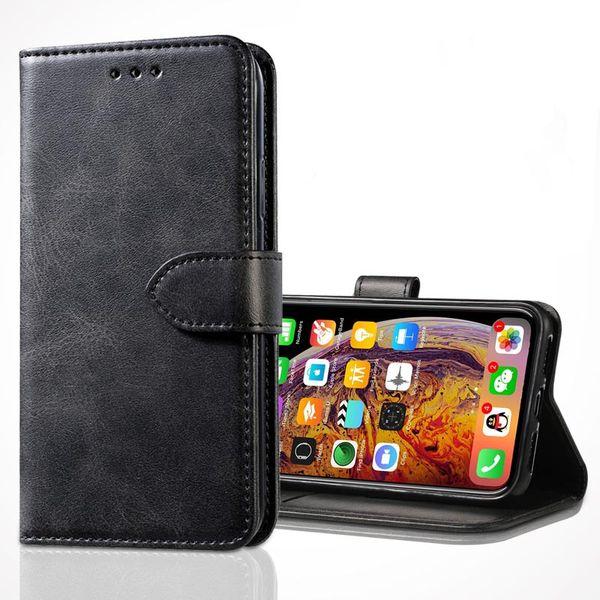 Tampa do telefone para o iphone xsmax xs xr x 8/7 8 p / 7 p 6/6 s 6 p 5 / 5S / se samsung s10 / s10p / s10e retro flip stand carteira de couro caso de telefone case