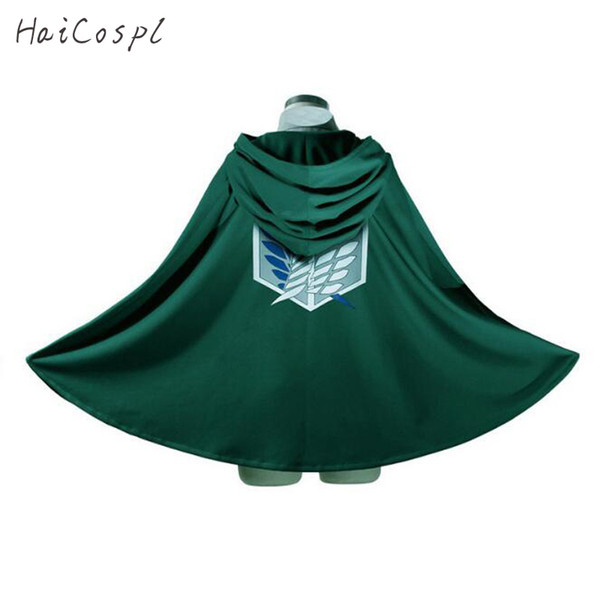 attack on titan Attack On Titan Costume Green Cloak Japanese Anime Cosplay Shingeki No Kyojin Hoodie Eren Levi Mikasa Cloak Scout