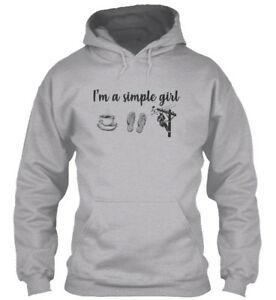 Sveglio alla moda Linemans Lady I 039 m una ragazza semplice divertente Felpa con cappuccio