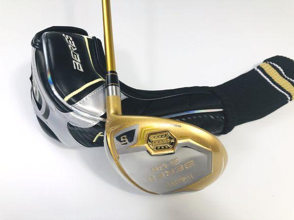 Men's Golf Clubs Fairway Woods S-06 Golden ball Head Graphite Golf shafts Golf headcovers Wood clubs Free shipping