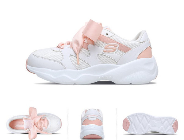 2019 Retro Campus Breeze Skechers Sneakers Panda Shoes Women Sports Shoes Sk Running Shoes Air Cooled Memory Foam D'LITES AIRY Size35 39 Slip On Shoes