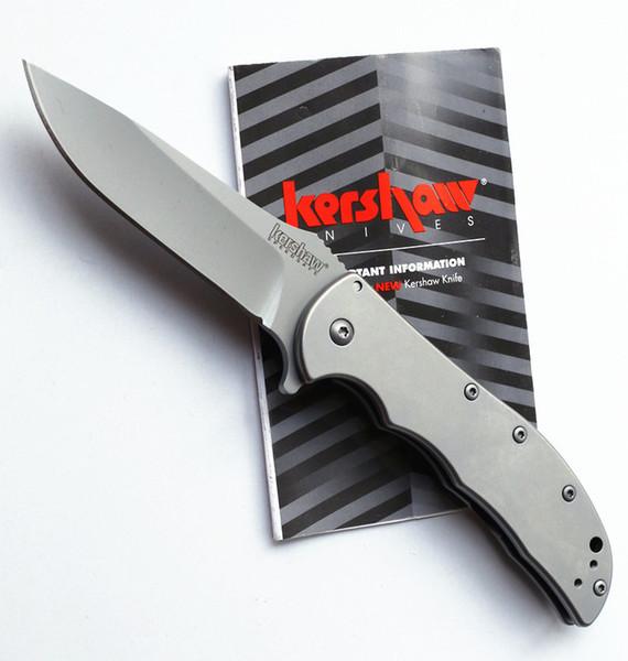 top popular wholesale Kershaw 3655 Cryo Grey titanium Tactical Folding Knives 8Cr13Mov blade 58HRC Camping Hunting Survival Pocket Knives Utility tools 2020
