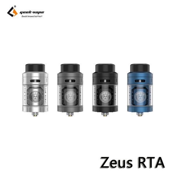 GeekVape Zeus RTA Atomizer En Dolum 3D Hava Akışı 4 ml Tank Ekstra Cam Tüp ile Fit için VOOPOO Sürükle Mod Reçine E-Sigaralar 100% Otantik