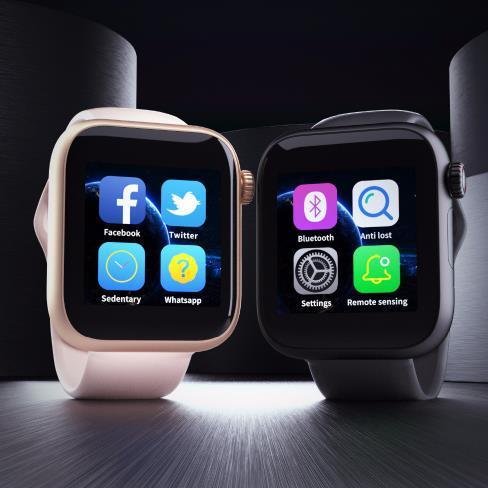 Reloj z6 Smart Watch de calidad superior con pantalla táctil de la cámara Soporte SIM TF Tarjeta Bluetooth Smartwatch para Android IOS