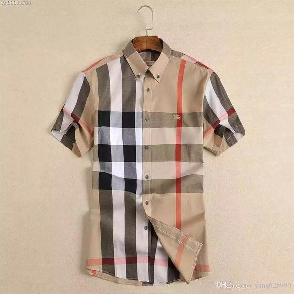 top popular 2020 American business brand self-cultivation plaid shirt, fashion designer brand long-sleeved cotton casual shirt striped co-dress shirt Q4 2021