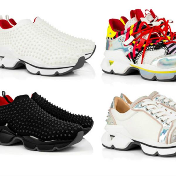 diseñador hombres mujeres mejores calcetines rojos calcetines fiesta personalidad plataforma de suela alta superior clavos tachonados zapatos casuales unisex zapatillas de deporte Xd891 #