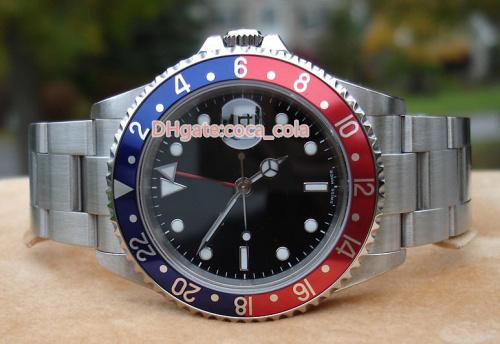 Topselling Luxury Top Quality Watch Top Factory Vintage II COKE 16710 BLue/RED 40mm Steel 2813 Movement Automatic Mens Watch Watches