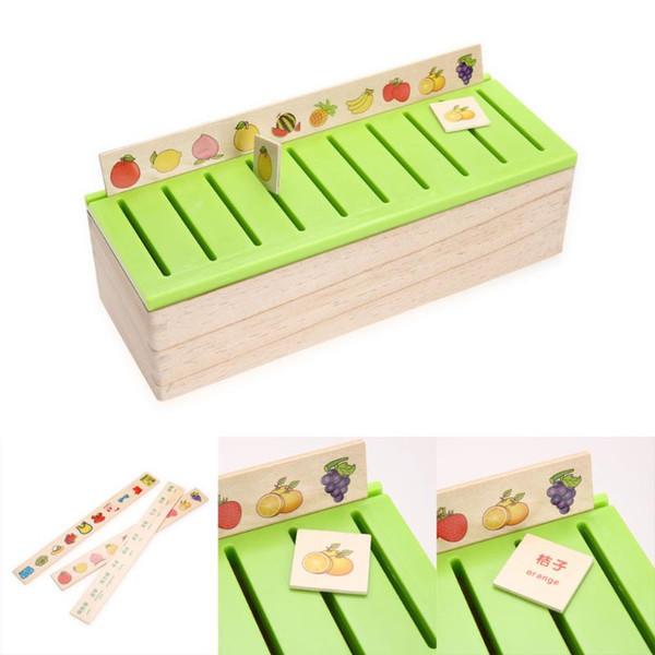 Giocattoli di mattoni Kid Cognitive Puzzle Domino Classificazione di legno Bambino precoce educativo Gioco genitore-bambino Regalo giocattolo Montessori