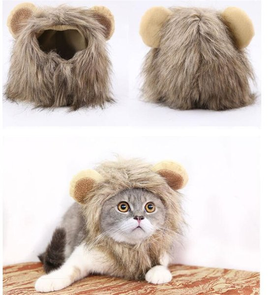 Pet Dog Hats Puppy Lion transformation Hat Adjusted Teddy Cat Wigs Cosplay Apparel Hats 3 Sizes