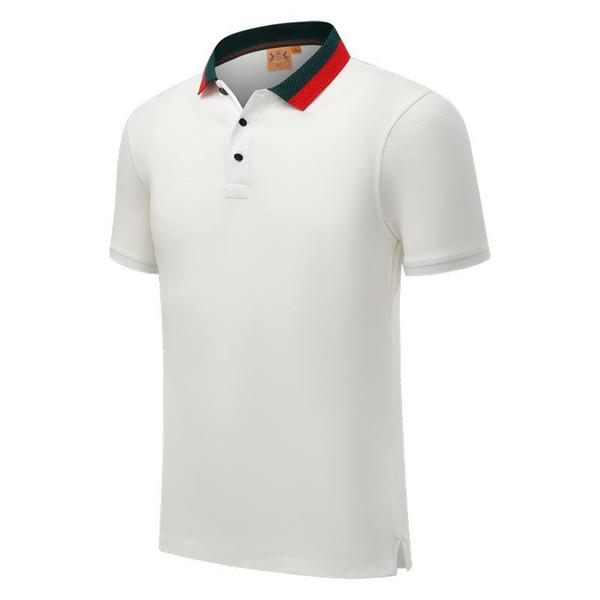 SD 20028 cf nouvelles manches courtes hommes chemise polo et les femmes jeunes chemise col rayé POLO revers de coton blanc mercerisé manches mi-longues