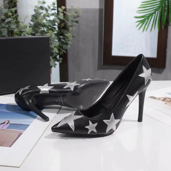 2020 Size 10cm 8cm 6.5cm Brand Fashion Designer Formal High-heeled Shoe With Box Free Shipping Women Girl Luxury High-heeled Shoe B104736Y