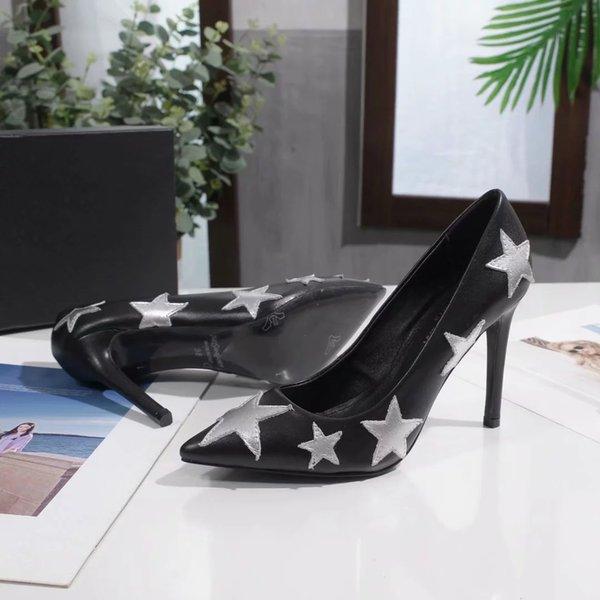 Kutu Ücretsiz Kargo Kadınlar Kız Lüks Yüksek topuklu ayakkabı B104736Y ile 2020 Boyut 10cm 8 cm 6.5cm Marka Modacı Örgün Yüksek topuklu ayakkabı